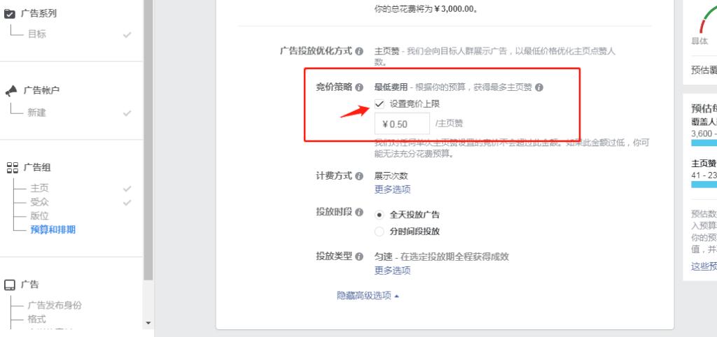 手把手教你 facebook 广告投放---广告组设置(二)